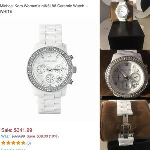 🌺Michael Kors  Stunning White Ceramic Watch